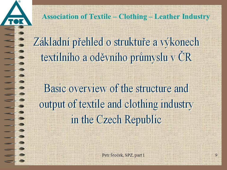 Petr Štoček, SPZ, part 130 Association of Textile – Clothing – Leather Industry