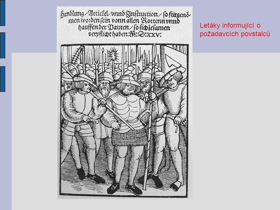 Letáky informující o požadavcích povstalců