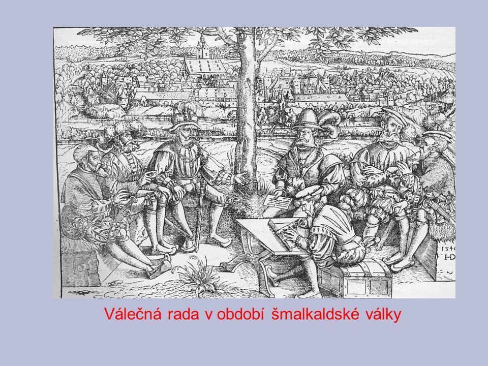 """Augšpurský náboženský mír (1555) konec náboženských válek v Německu vyrovnání katolíků a protestantů zásada: """"čí země, toho náboženství"""