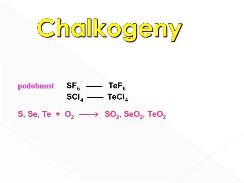 SO 3 - Plynný je monomerní - Pevný obsahuje trimerní cyklické mlk (SO 3 ) 3