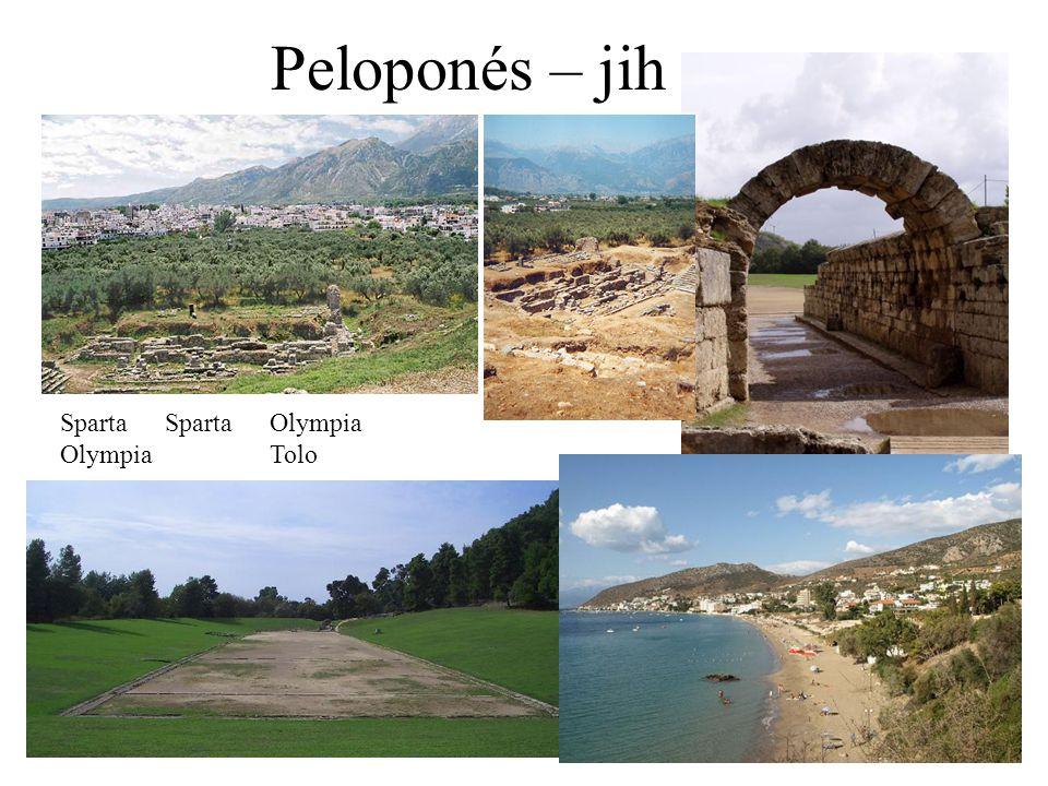 Peloponés – jih SpartaSpartaOlympia OlympiaTolo