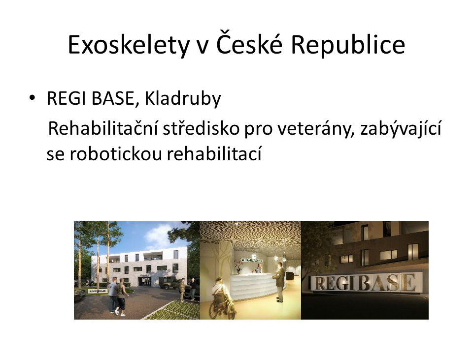Exoskelety v České Republice REGI BASE, Kladruby Rehabilitační středisko pro veterány, zabývající se robotickou rehabilitací
