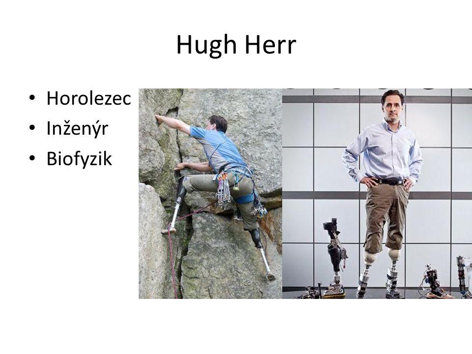 Hugh Herr Horolezec Inženýr Biofyzik