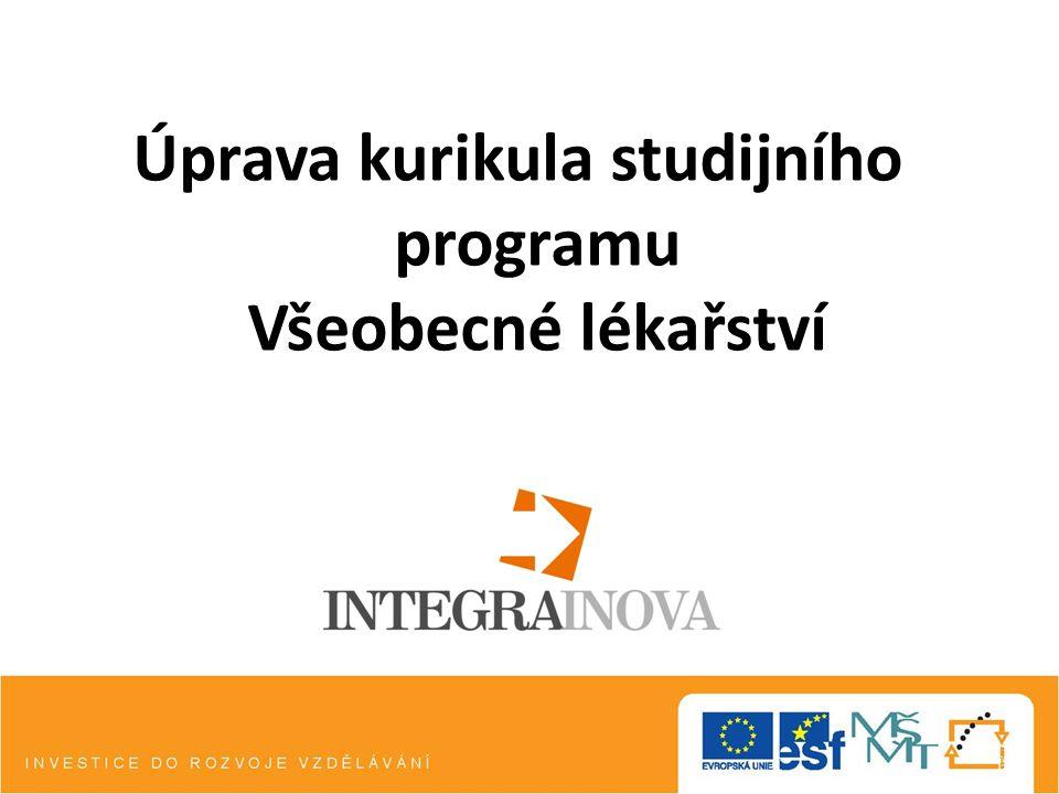 Inovace kurikula studijního programu Všeobecné lékařství na Lékařské fakultě Univerzity Palackého v Olomouci.