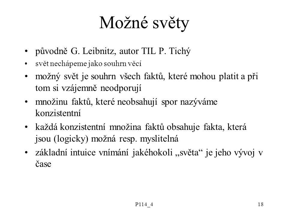 P114_418 Možné světy původně G. Leibnitz, autor TIL P.