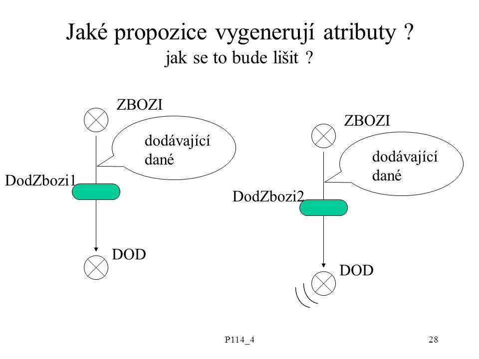 P114_428 Jaké propozice vygenerují atributy . jak se to bude lišit .
