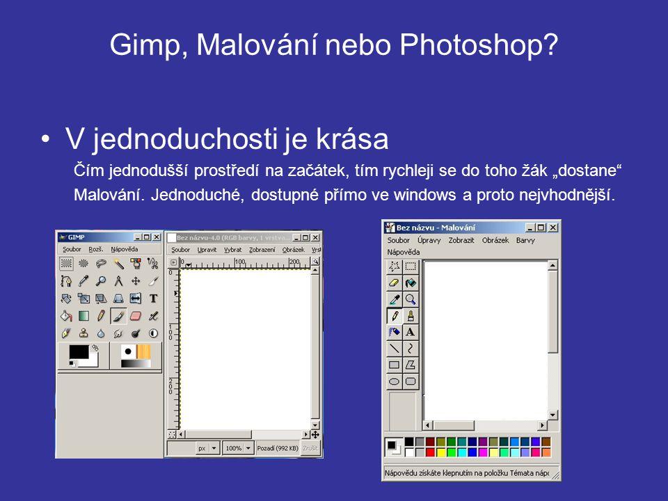 Gimp, Malování nebo Photoshop.