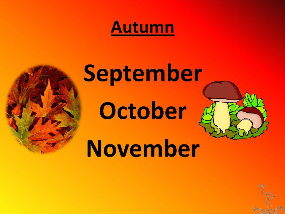 Autumn - words LEAVES MASHROOMS