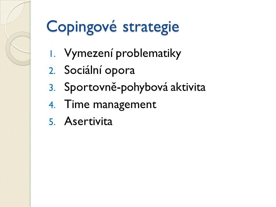 1.Vymezení problematiky 2. Sociální opora 3. Sportovně-pohybová aktivita 4.