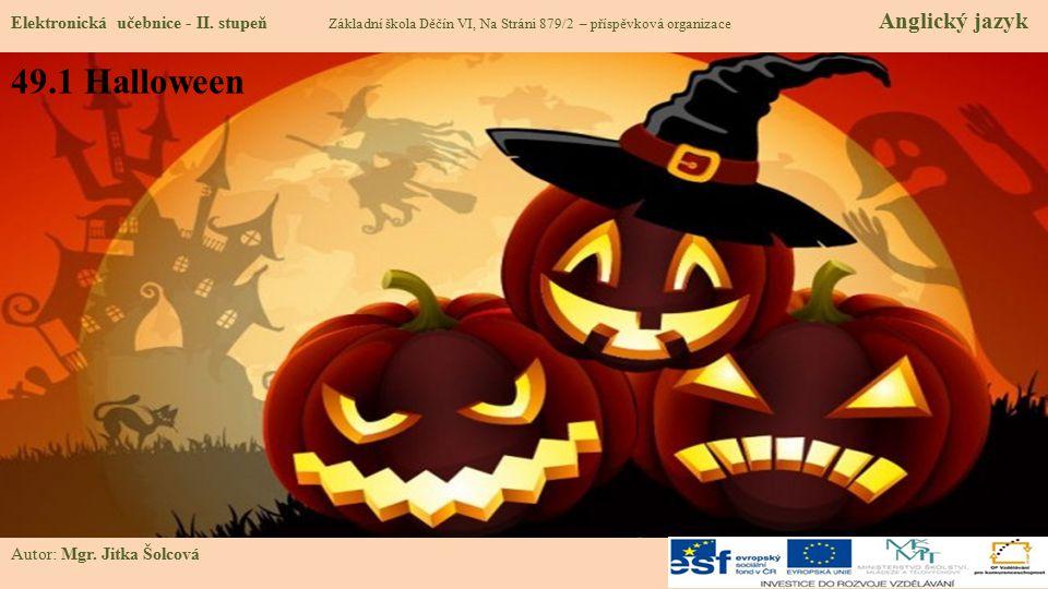49.1 Halloween Elektronická učebnice - II.