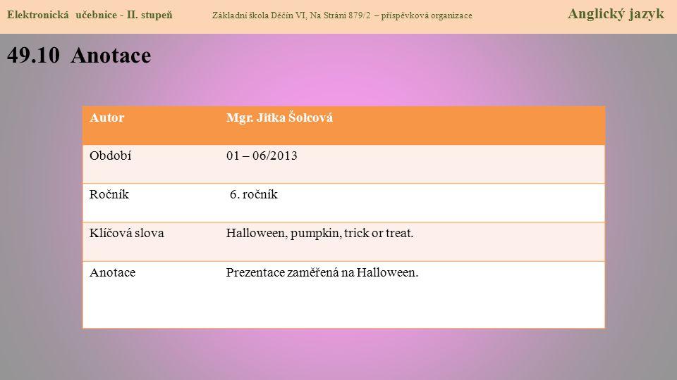 49.10 Anotace Elektronická učebnice - II.