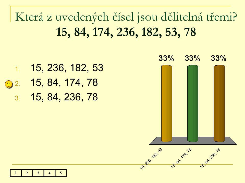 Přirozené číslo je dělitelné čtyřmi, když...12345 1.