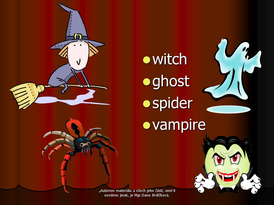 witch ghost spider vampire