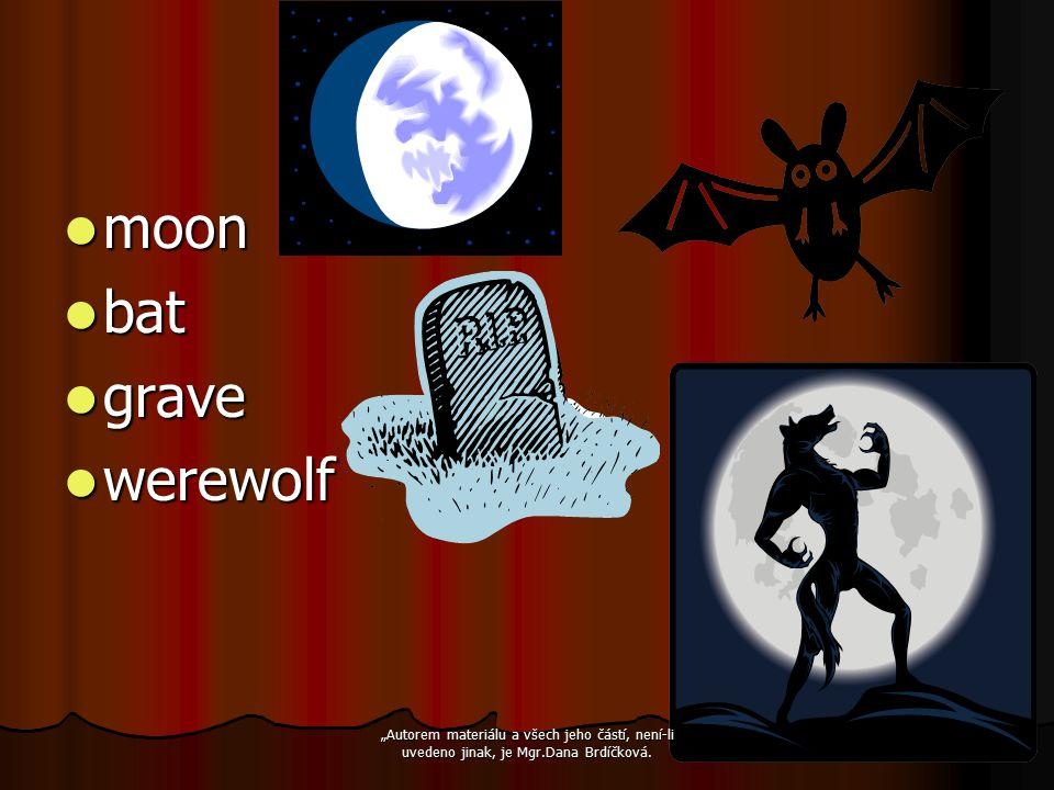 """moon moon bat bat grave grave werewolf werewolf """"Autorem materiálu a všech jeho částí, není-li uvedeno jinak, je Mgr.Dana Brdíčková."""