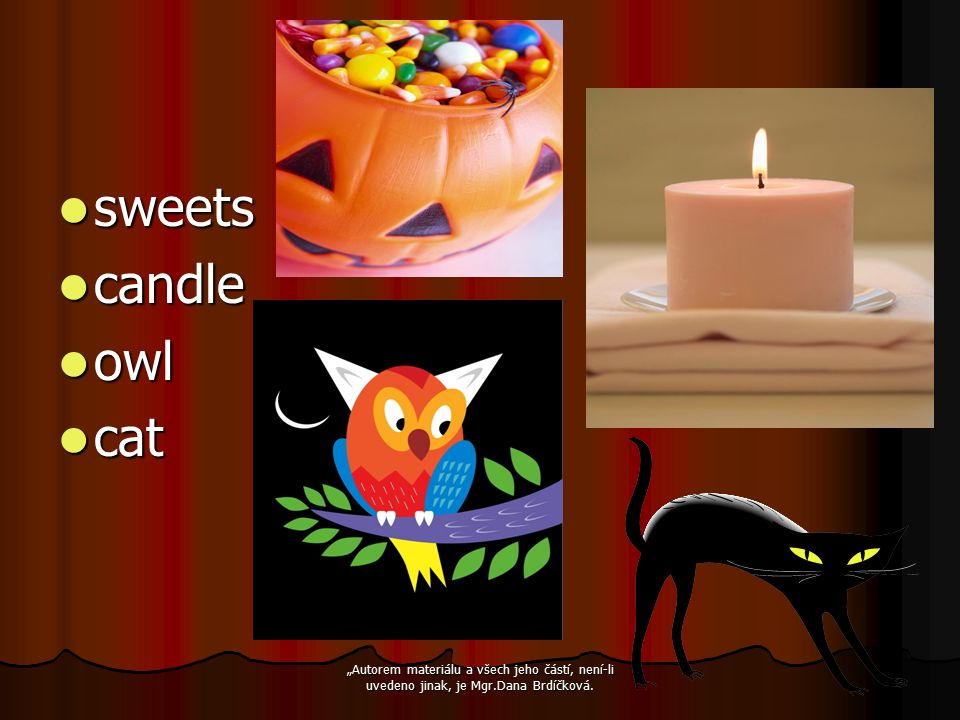 sweets candle owl cat