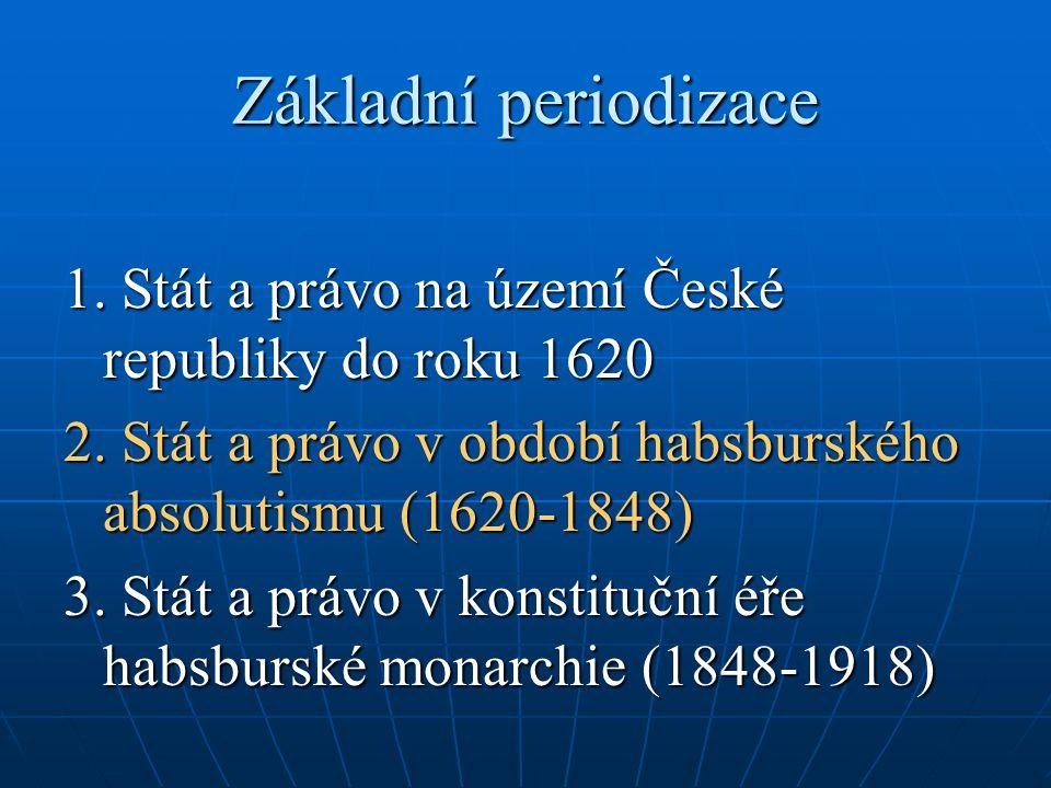 """Ústřední orgány po Bílé hoře dikasteria (později kolegia) tradiční panovníkovy domény: zahraniční politika (tajná rada, pak tajná konference, rakouská dvorská kancelář) částečně vojenství (dvorská válečná rada) """"dvorské finance (dvorská komora ad.) komerční kolegium (1666 J."""