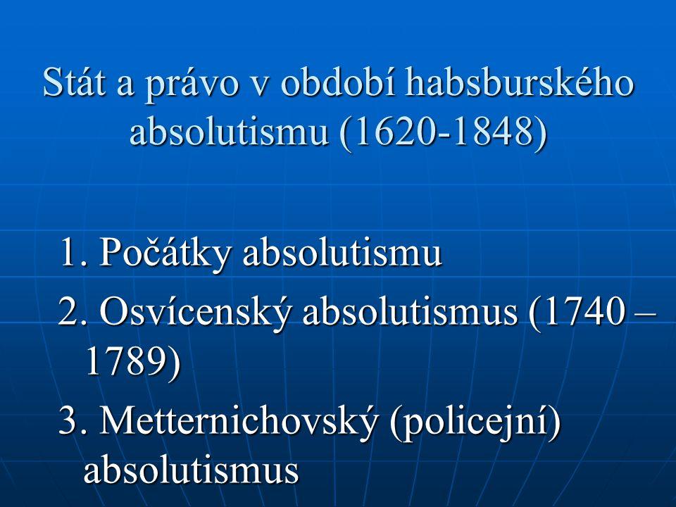 Ústřední orgány v 1.polovině 19. st.