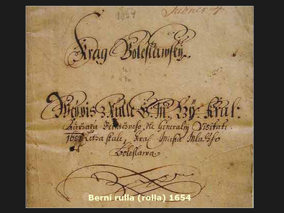 Berní rulla (rolla) 1654
