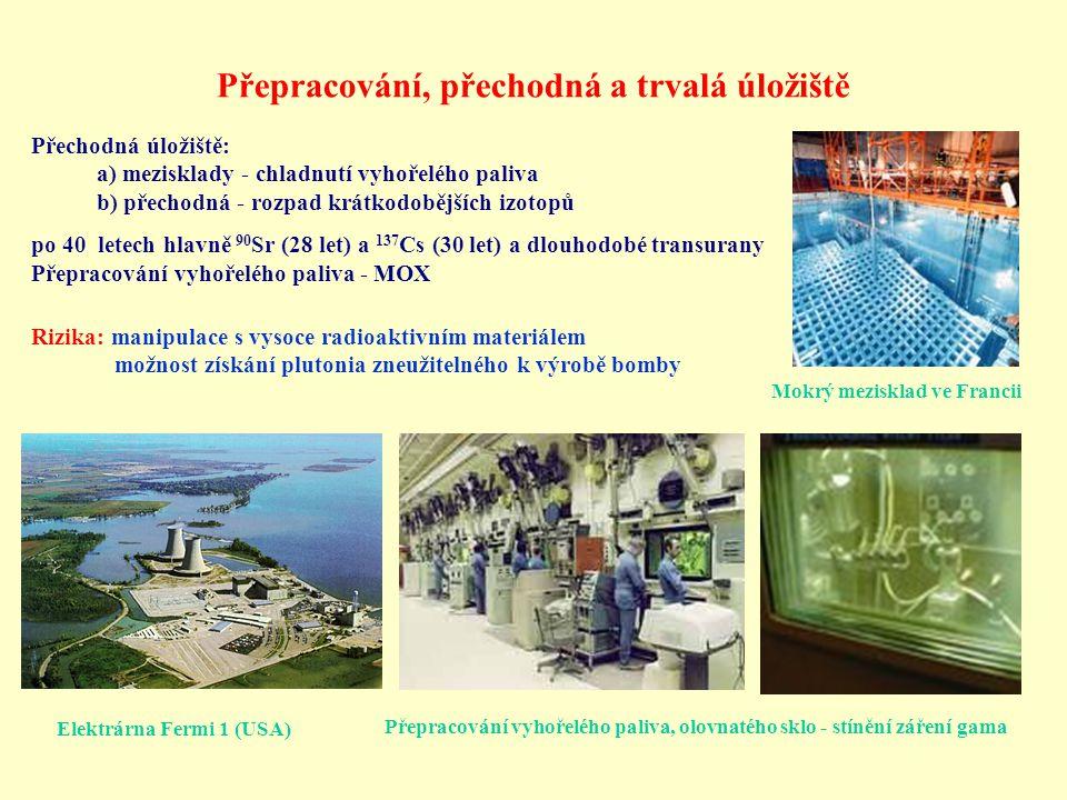 Jaderné reaktory čtvrté generace Studie šesti různých nových typů reaktorů, čtyři jsou množivé a jen dva jsou klasické Hlavní úkoly: 1) Využít veškerý potenciál jaderného paliva 2) Snížit množství jaderného odpadu na minimum 3) Zvýšit bezpečnost na maximum
