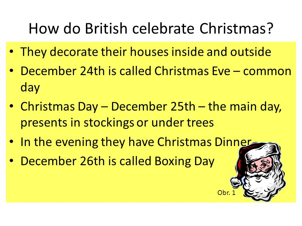 How do British celebrate Christmas.