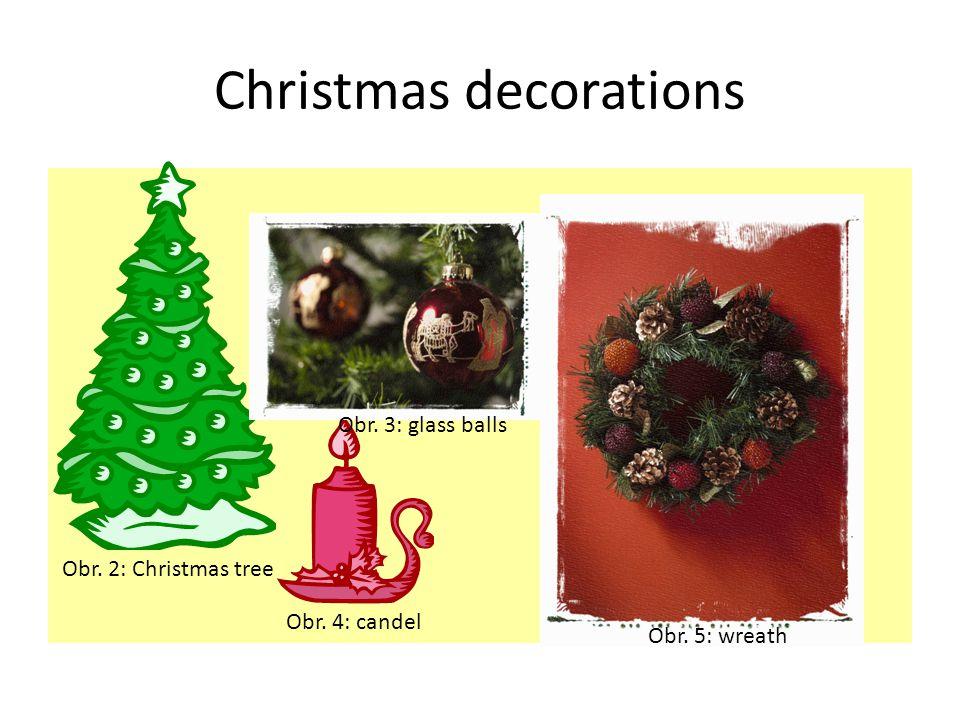 Decorations Obr. 6: Inside Obr. 7: Outside Decorations: Electrical lights Wreaths Mistletoe Holly