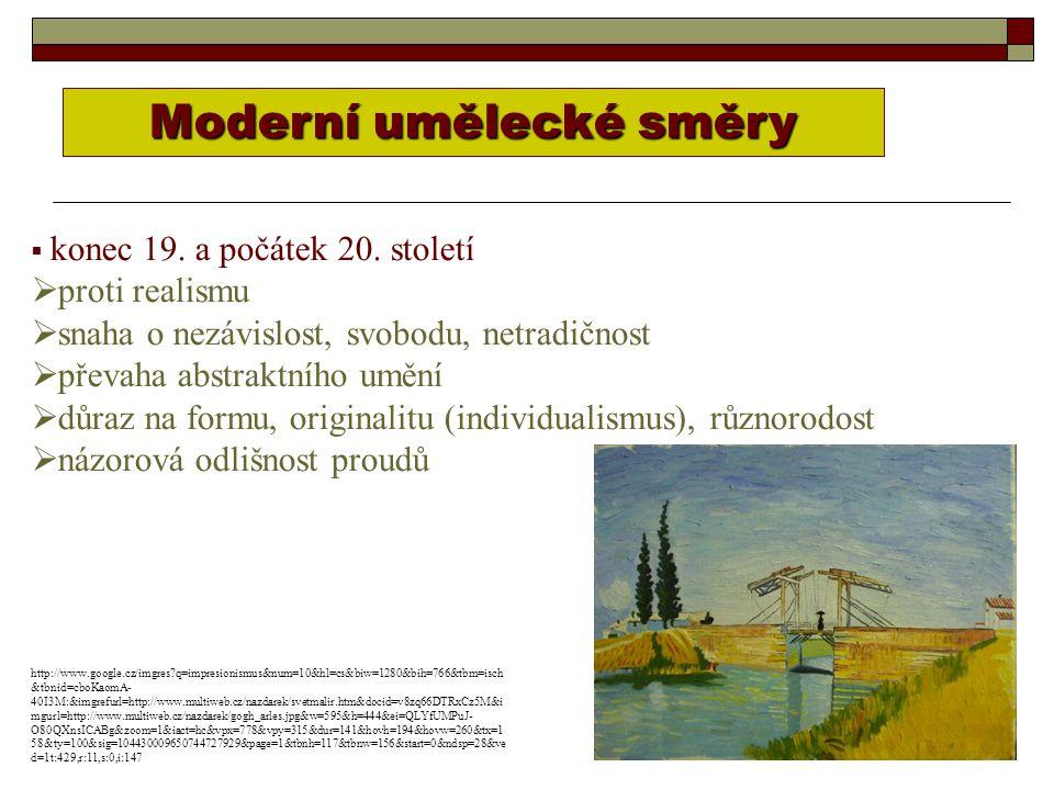 IMPRESIONISMUS (z fr.l´impression – dojem)   umělecký směr poslední 1/3 19.