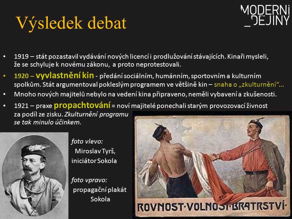 Výsledek debat 1919 – stát pozastavil vydávání nových licencí i prodlužování stávajících. Kinaři mysleli, že se schyluje k novému zákonu, a proto nepr
