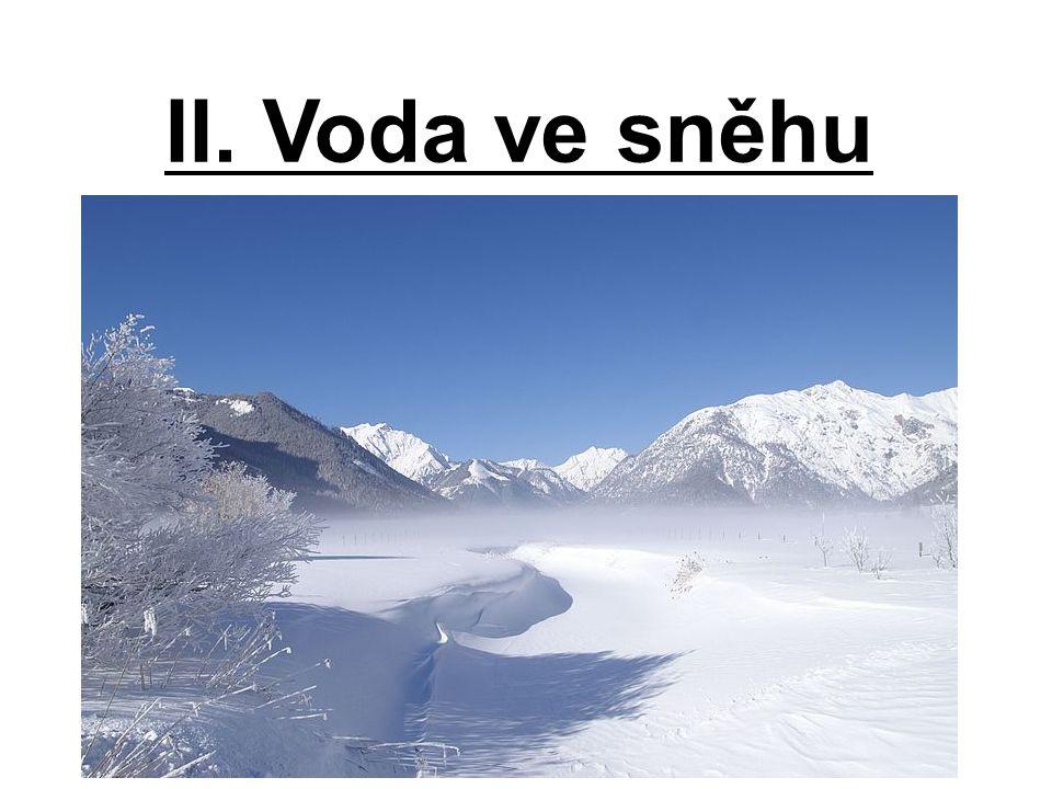 II. Voda ve sněhu