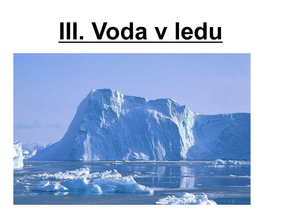 III. Voda v ledu