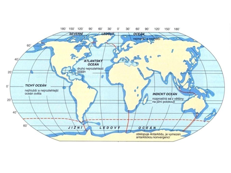 Pohyby mořské vody dmutí = slapové jevy – příliv a odliv vlnění – způsobeno větrem – větší na otevřeném moři - na pevnině příboj = eroze mořské proudy – příčinou je cirkulace atmosféry teplé z nižších zem.