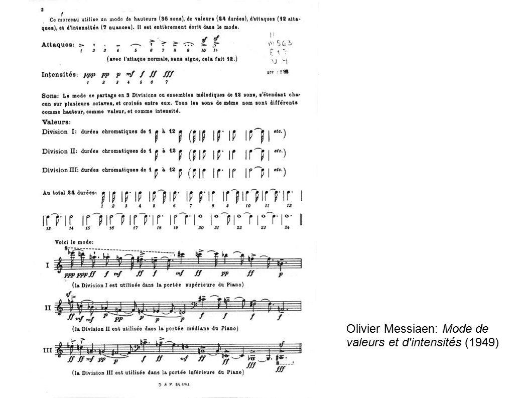 Olivier Messiaen: Mode de valeurs et d intensités (1949)