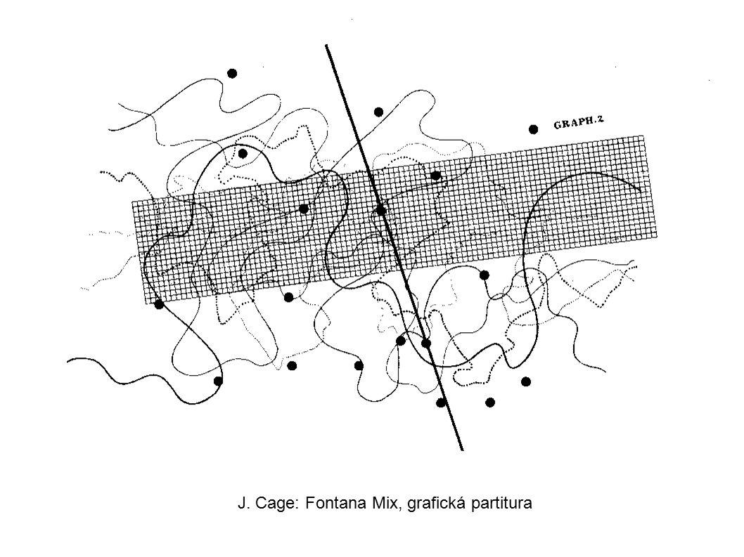 J. Cage: Fontana Mix, grafická partitura