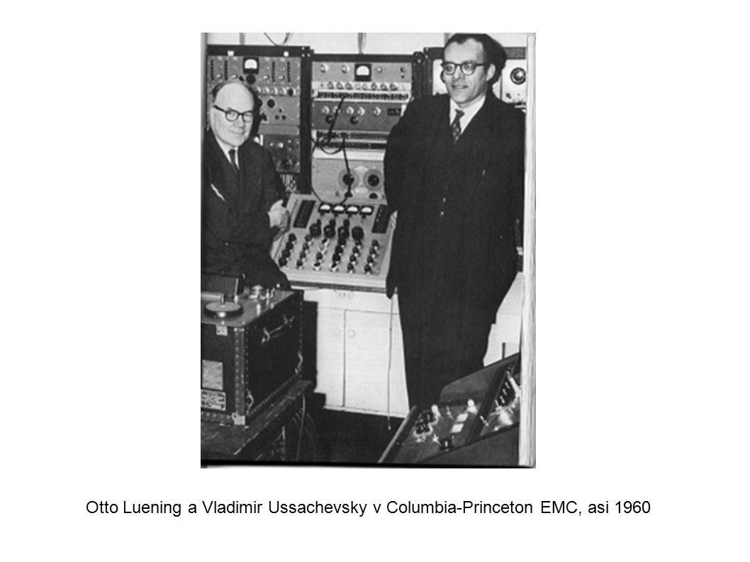 Otto Luening a Vladimir Ussachevsky v Columbia-Princeton EMC, asi 1960