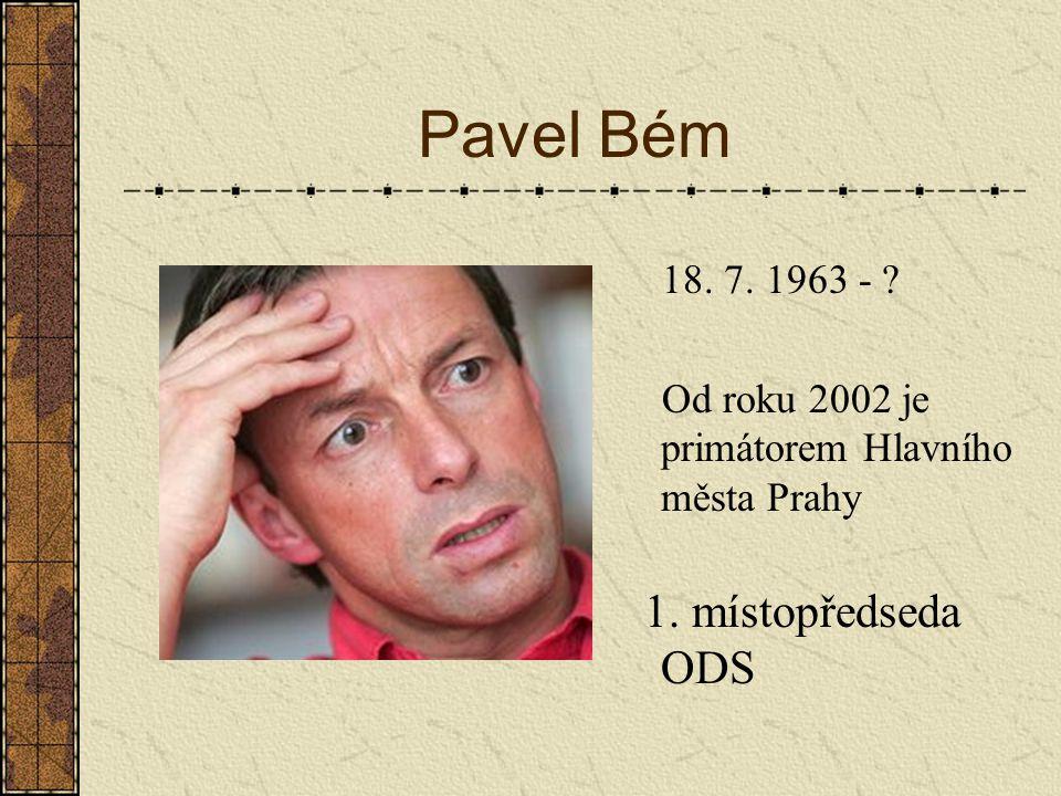 Miroslav Kalousek 17. 12. 1960 - ? ministr financí bývalý předseda KDU-ČSL