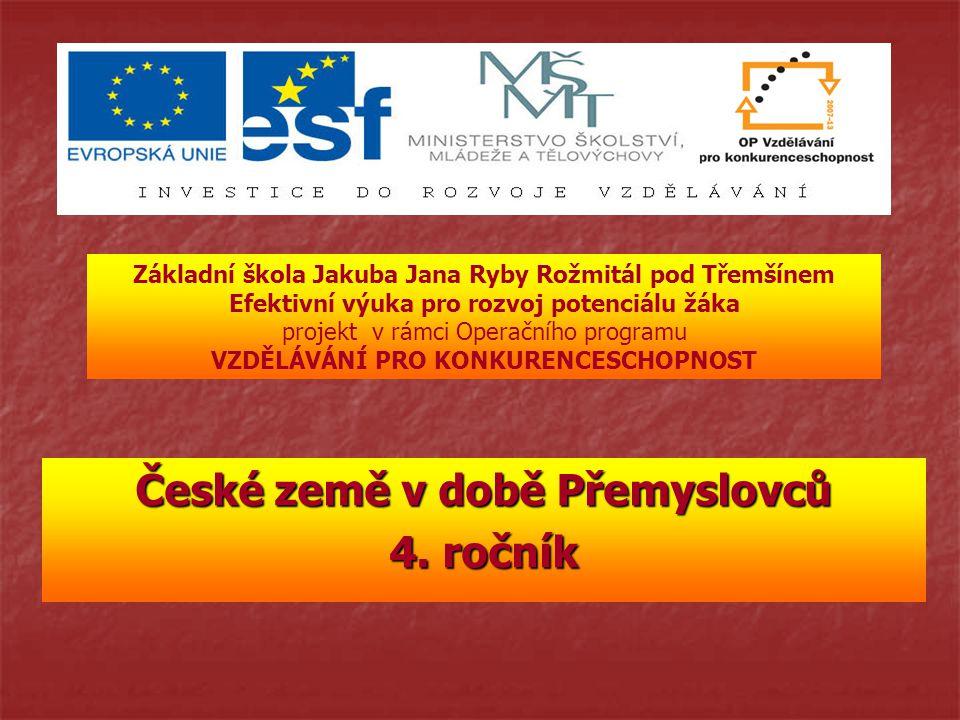 České země v době Přemyslovců 4.