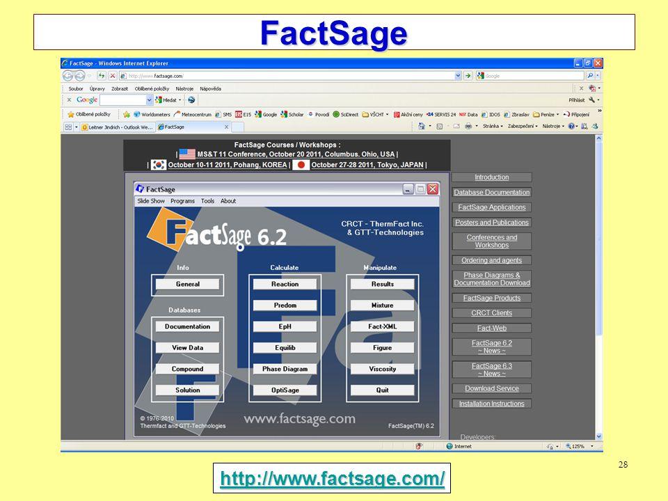 28 FactSage http://www.factsage.com/