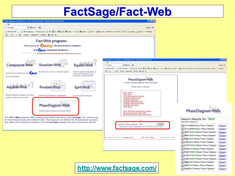 31 FactSage/Fact-Web http://www.factsage.com/