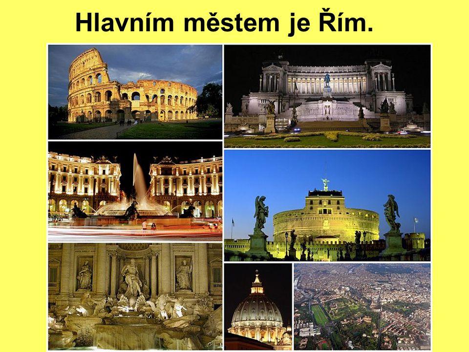 Hlavním městem je Řím.