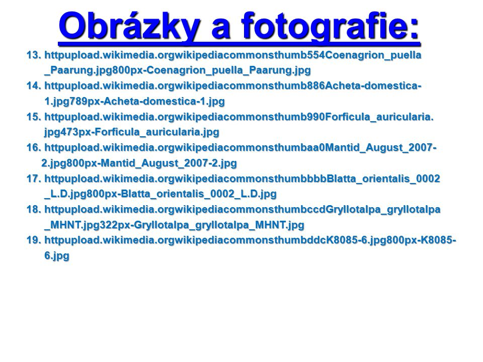 Obrázky a fotografie: 13. httpupload.wikimedia.orgwikipediacommonsthumb554Coenagrion_puella 13.