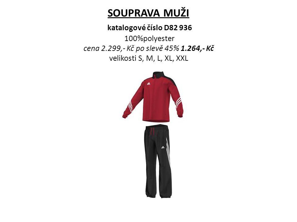 SOUPRAVA MUŽI katalogové číslo D82 936 100%polyester cena 2.299,- Kč po slevě 45% 1.264,- Kč velikosti S, M, L, XL, XXL