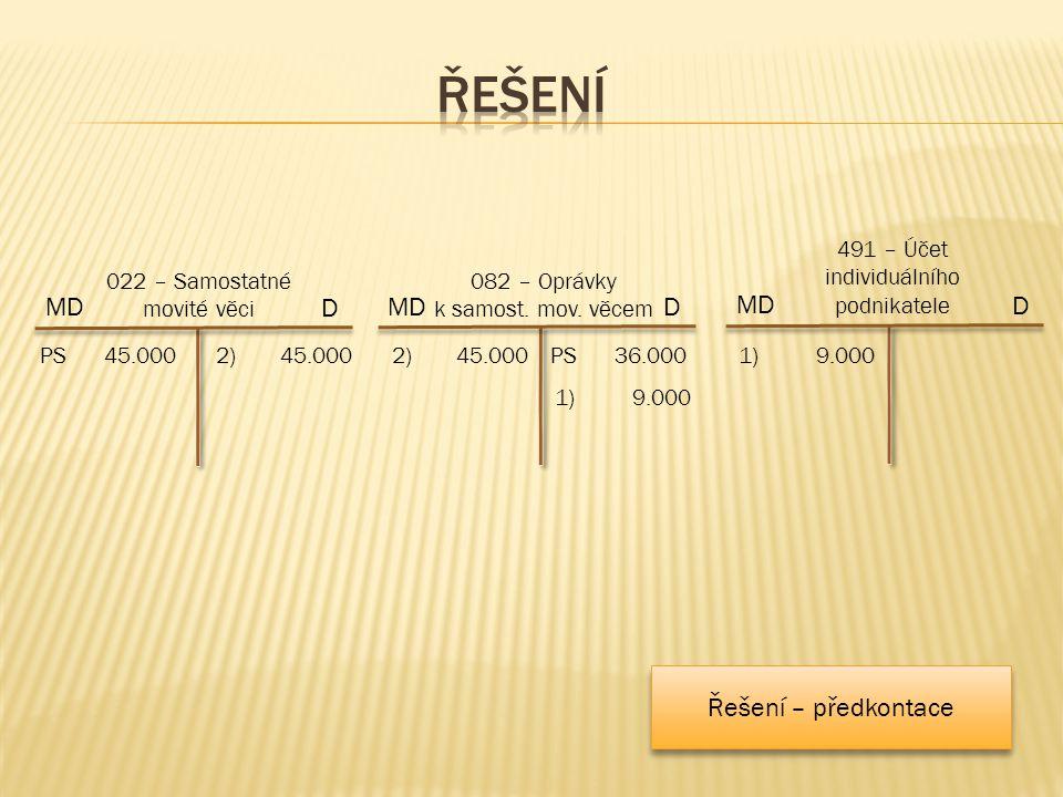 2)45.000 MD 082 – Oprávky k samost. mov.