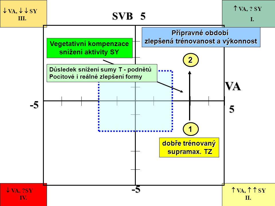 -5 55-5 VASVB 1  VA,   SY III.  VA, ?SY IV.  VA,   SY II.  VA, ? SY I. dobře trénovaný supramax. TZ supramax. TZ 2 Přípravné období zlepšená t