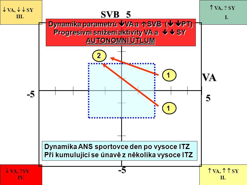 -5 55-5 VASVB 1  VA,   SY III.  VA, ?SY IV.  VA,   SY II.  VA, ? SY I. 2 Dynamika parametrů  VA a  SVB (   PT) Progresivní snížení aktivit