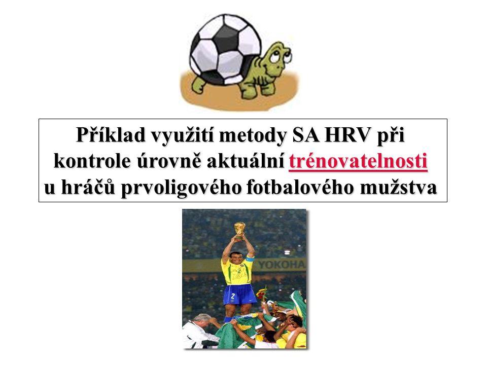 Příklad využití metody SA HRV při kontrole úrovně aktuální trénovatelnosti u hráčů prvoligového fotbalového mužstva