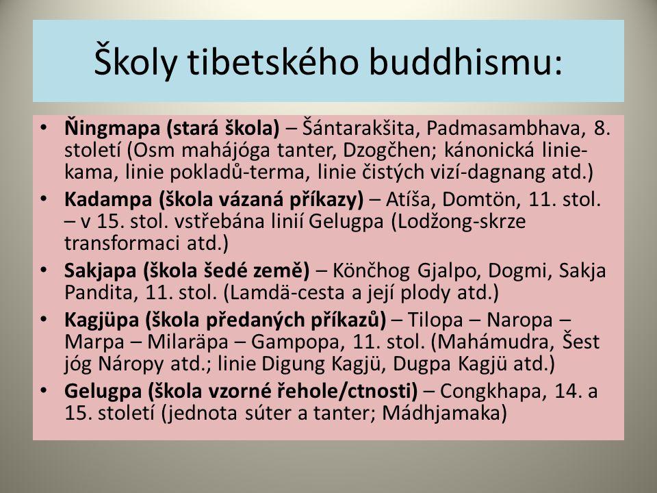 Školy tibetského buddhismu: Ňingmapa (stará škola) – Šántarakšita, Padmasambhava, 8.