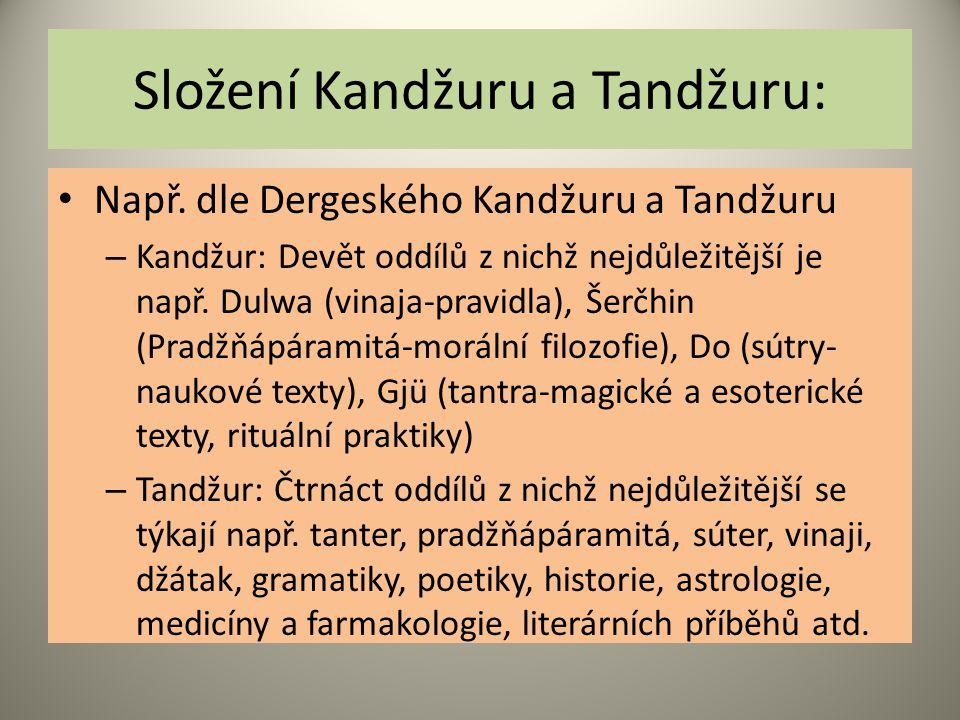 Složení Kandžuru a Tandžuru: Např.