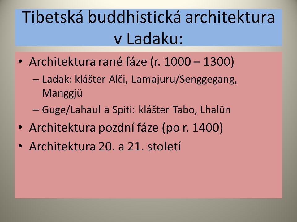 Tibetská buddhistická architektura v Ladaku: Architektura rané fáze (r.