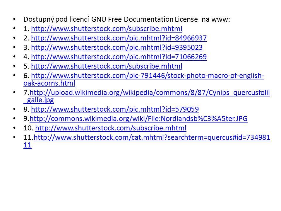 Dostupný pod licencí GNU Free Documentation License na www: 1. http://www.shutterstock.com/subscribe.mhtmlhttp://www.shutterstock.com/subscribe.mhtml