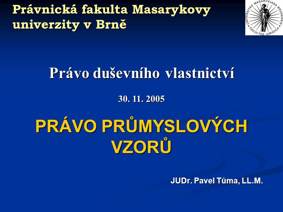 Právnická fakulta Masarykovy univerzity v Brně Pojem výrobku (1.) Výrobek= průmyslově nebo řemeslně vyrobený předmět (= široké vymezení) [§ 2 písm a) ZPrV] [§ 2 písm a) ZPrV] včetně ….