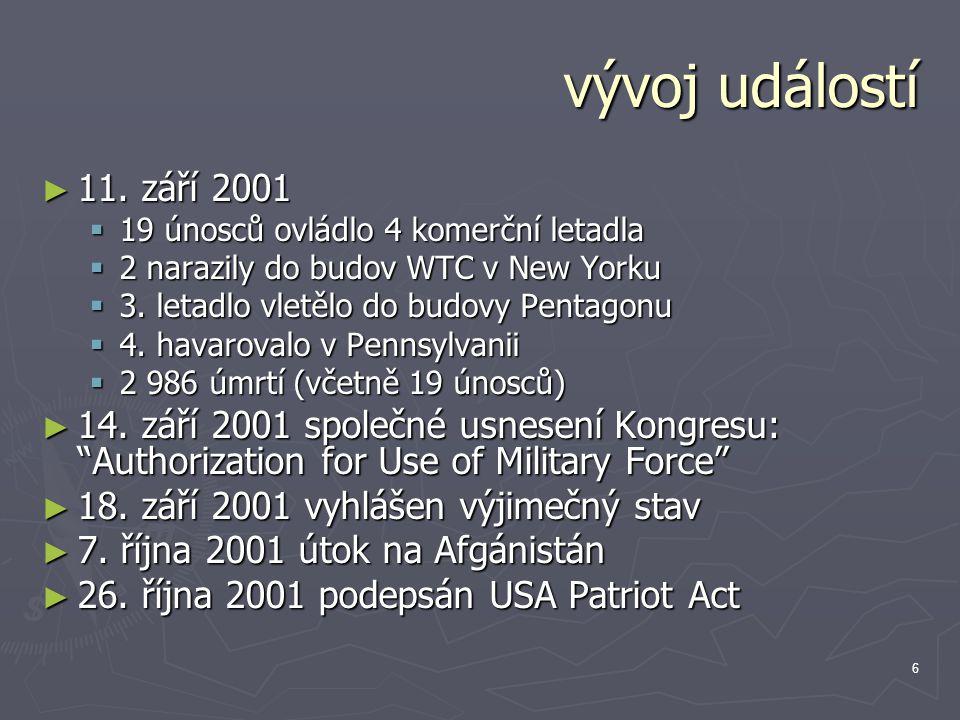 7 mezinárodní reakce ► Rezoluce RB 1368 (2001) z 12.